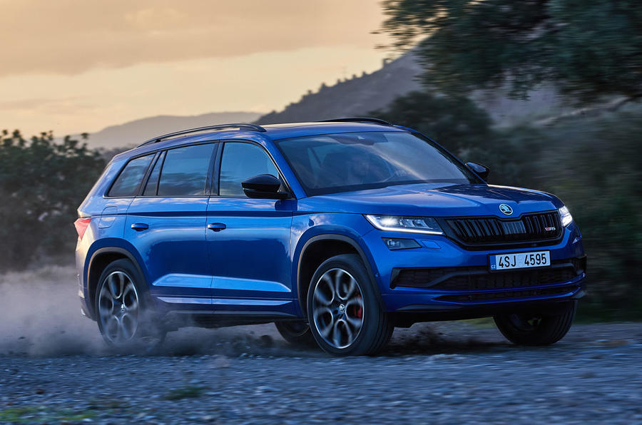 Skoda Kodiaq vRS 2018 first drive review - hero side