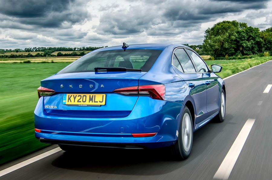 Skoda Octavia hatchback 2020 UK first drive review - hero rear