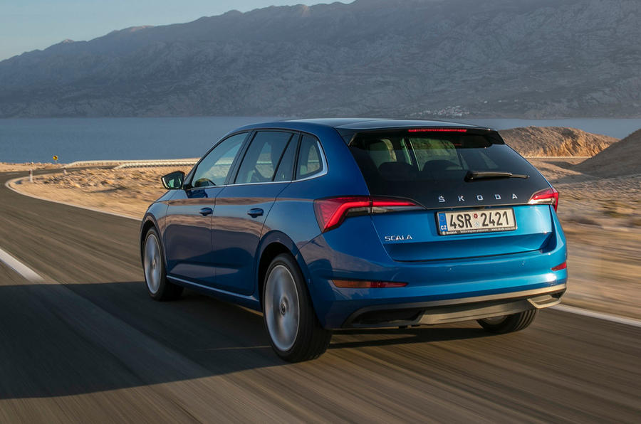 Skoda Scala 2019 first drive review - hero rear