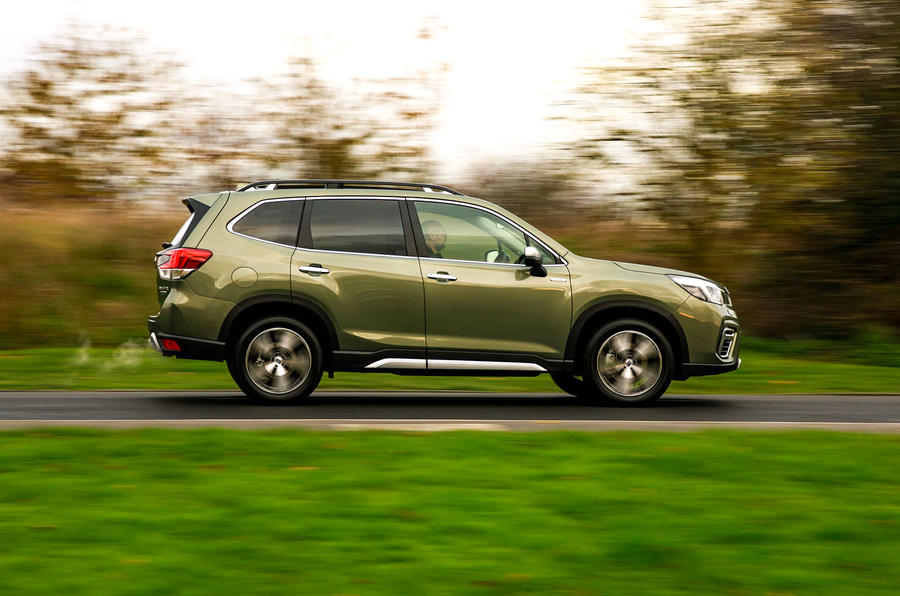 Subaru Forester eBoxer 2019 UK first drive review - hero side