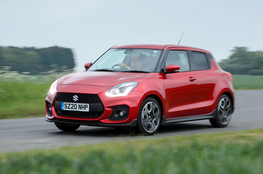 Suzuki Swift Sport hybrid 2020 UK first drive review - hero rear