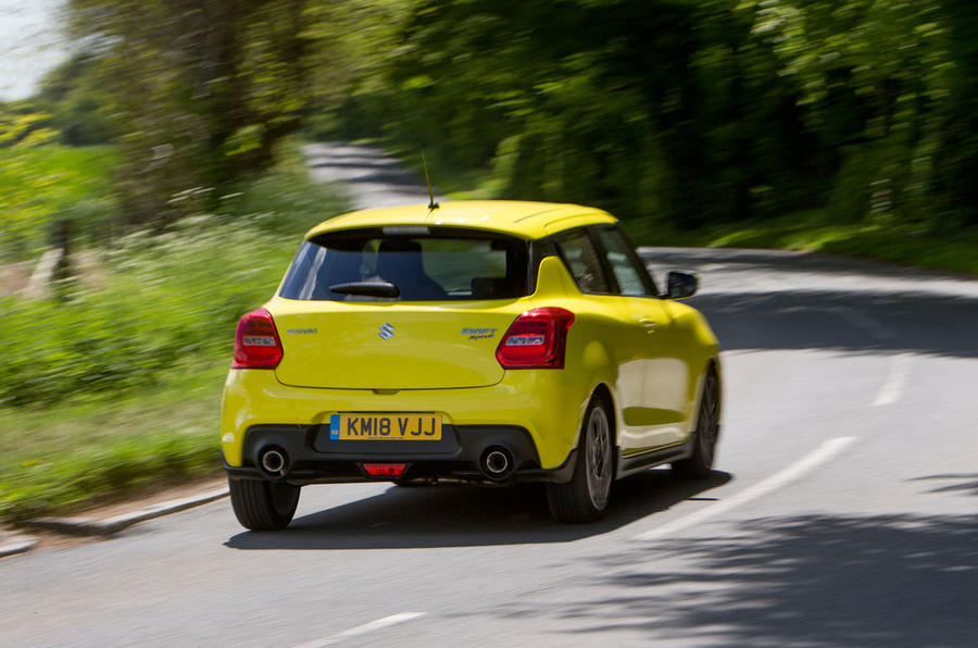 Suzuki Swift Sport 2018 long-term review hero rear