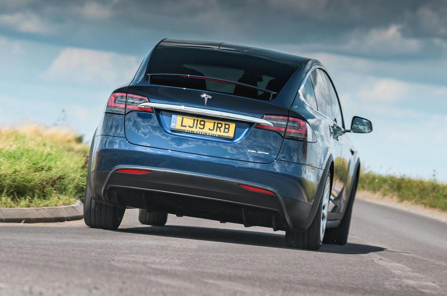 Tesla Model X Long Range 2019 UK first drive review - hero rear