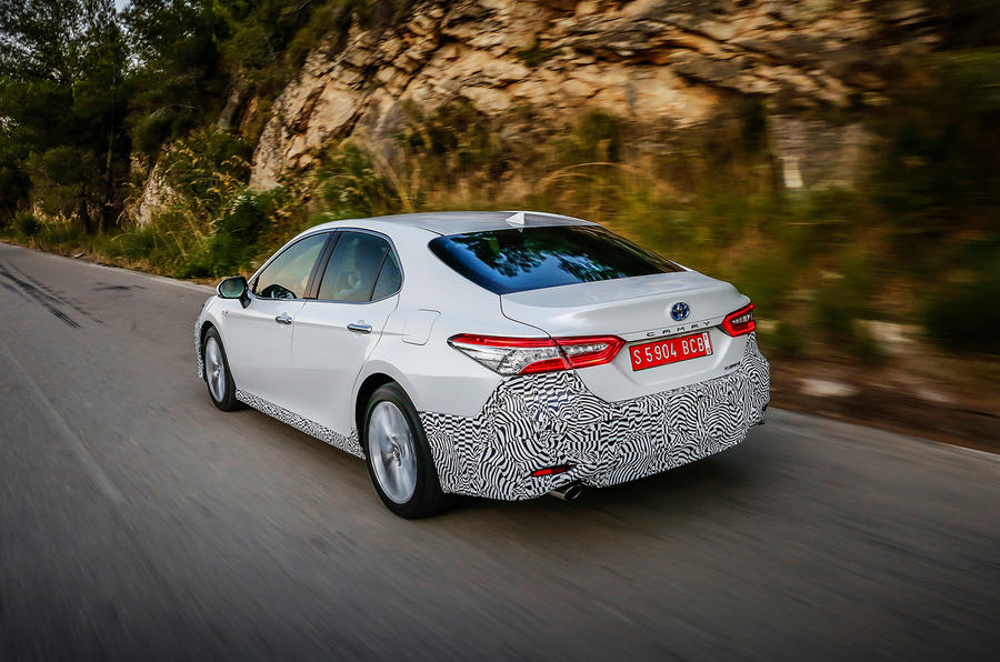Toyota Camry 2019 first drive review hero rear