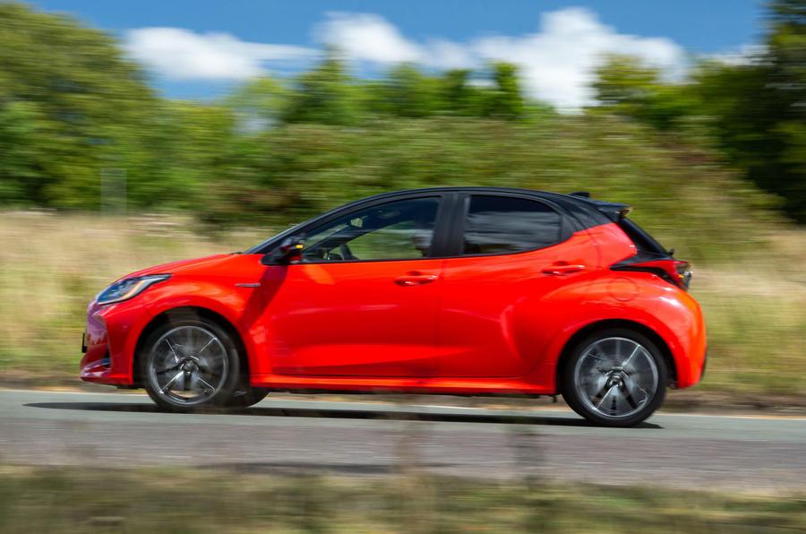 Toyota Yaris hybrid 2020 UK first drive review - hero side