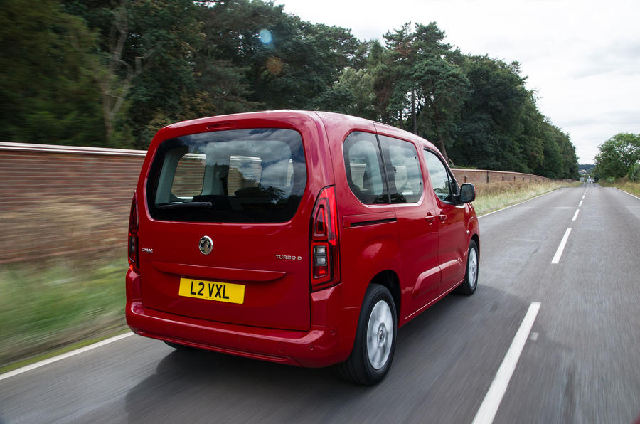 Vauxhall Combo Life 2018 UK first drive review hero rear