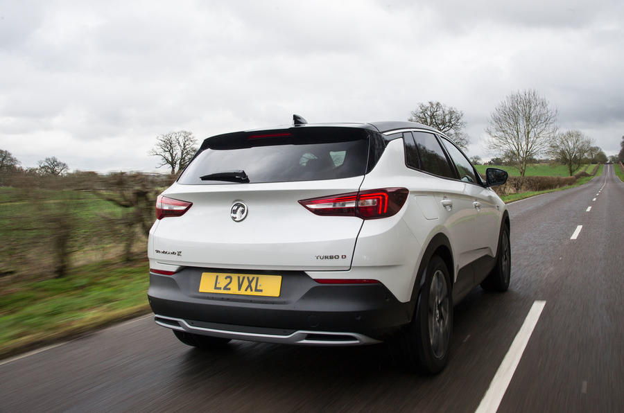 Vauxhall Grandland X 1.5 Turbo D 2018 first drive review - hero rear