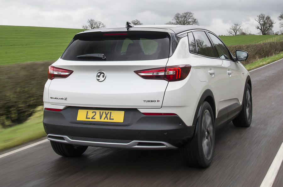 Vauxhall Grandland X Ultimate 2018 UK review hero rear