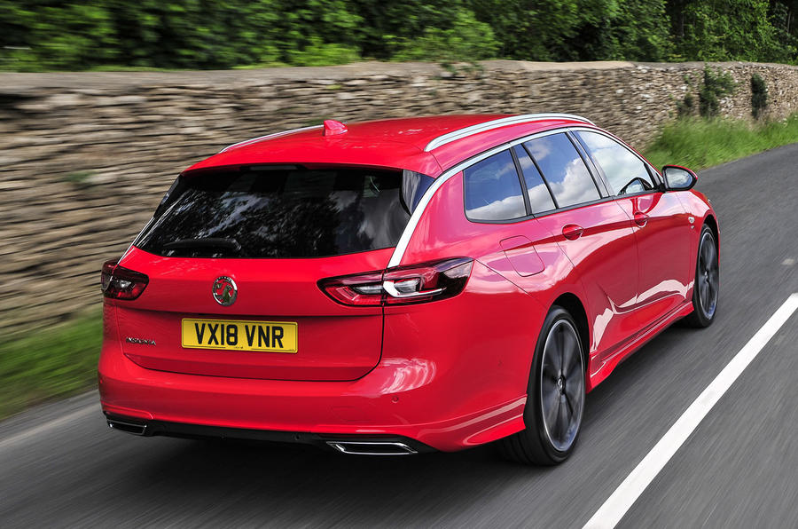 Vauxhall Insignia Sports Tourer 2018 UK first drive review - hero rear