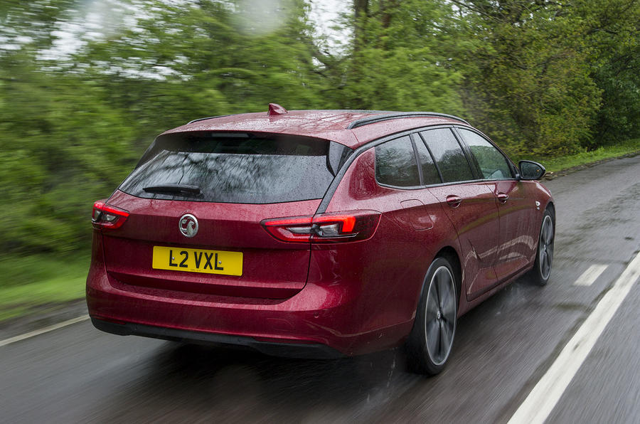 Vauxhall Insignia sports tourer 2019 first drive review - hero rear