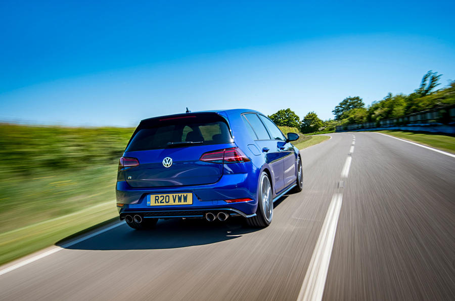 Volkswagen Golf R Performance Pack 2018 review hero rear