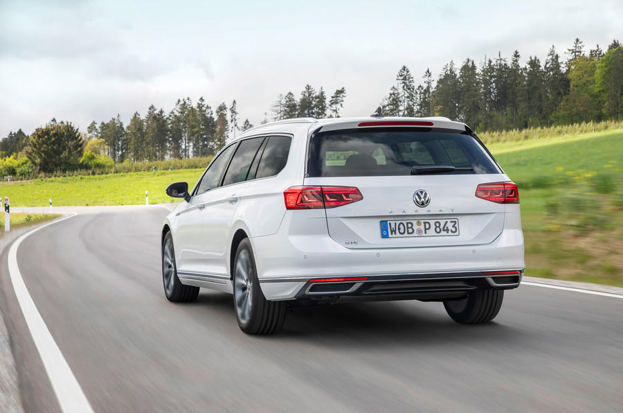 Volkswagen Passat GTE Estate 2019 first drive review - hero rear