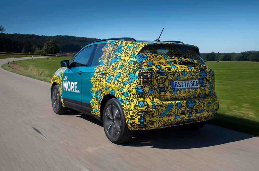 Volkswagen T-Cross prototype 2019 first drive review hero rear