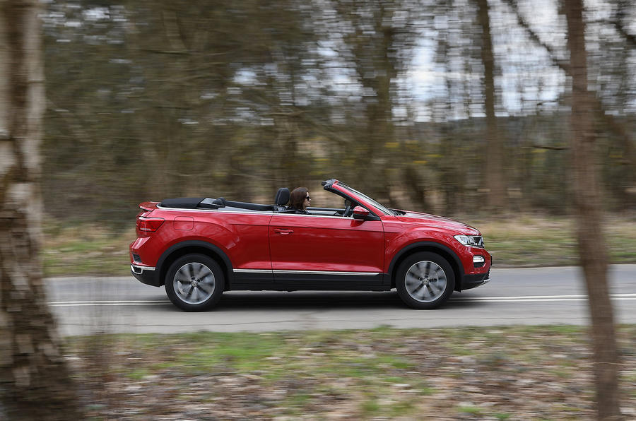 Volkswagen T-Roc Cabriolet 2020 UK first drive review - hero side