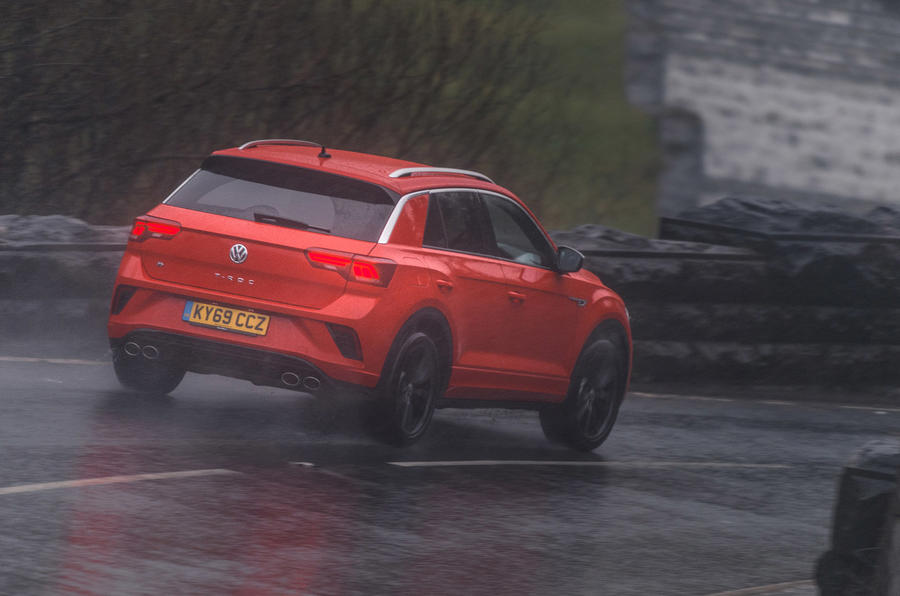 Volkswagen T-Roc R 2020 UK first drive review - hero rear