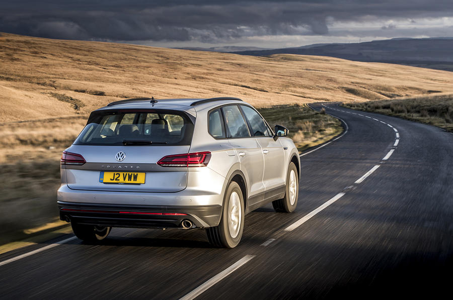 Volkswagen Touareg 2020 UK first drive review - hero rear
