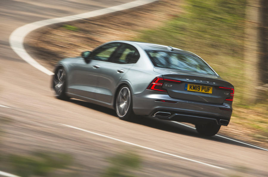 Volvo S60 T5 2019 UK first drive review - hero rear