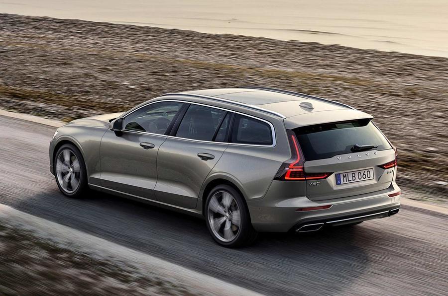 Volvo V60 2018 review hero rear