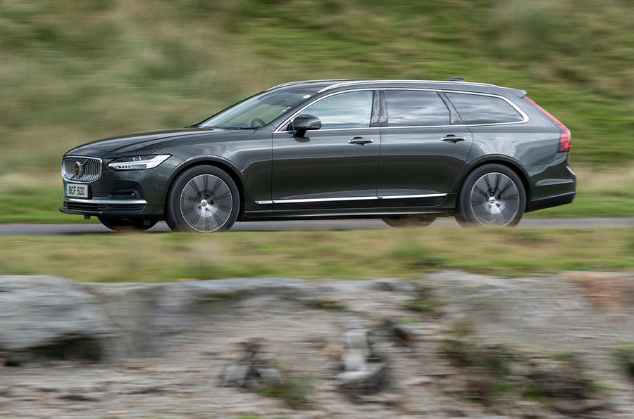 Volvo V90 B5 2020 UK first drive review - hero side