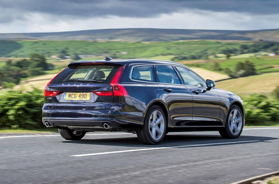 Volvo V90 R-Design Pro 2018 UK first drive review - hero rear