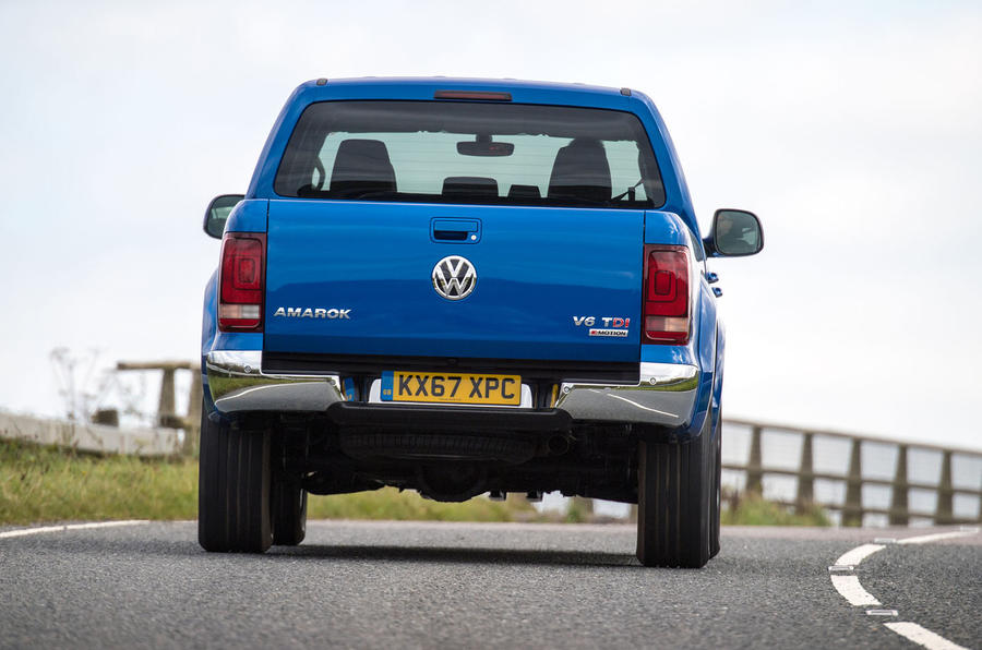 Volkswagen Amarok V6 2018 UK review hero rear