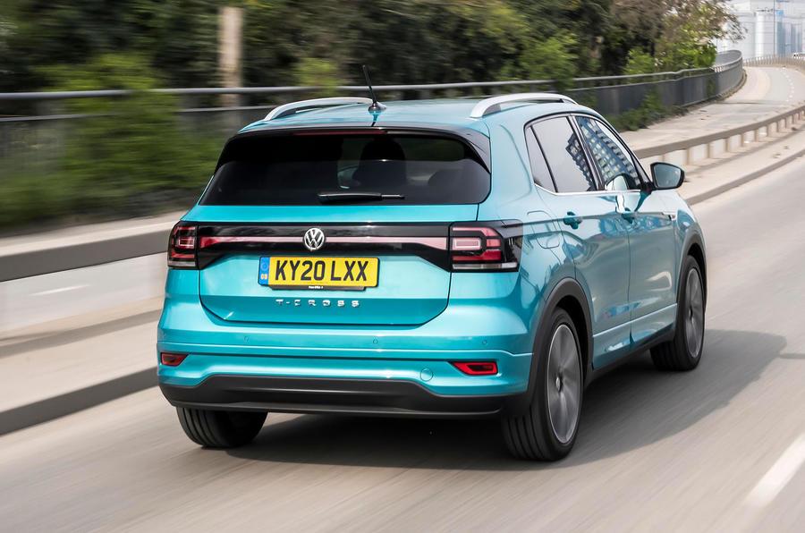 Volkswagen T-Cross R-Line 2020 UK first drive review - hero rear