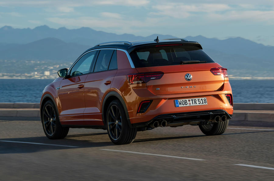 Volkswagen T-Roc R 2019 first drive review - hero rear