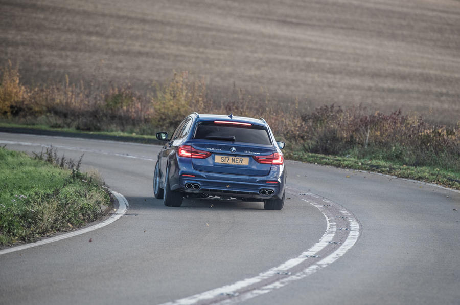 Alpina B5 Touring 2018 UK first drive review - on the road rear