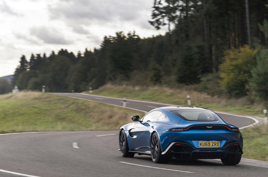 Aston Martin Vantage manual 2019 first drive review - on the road rear