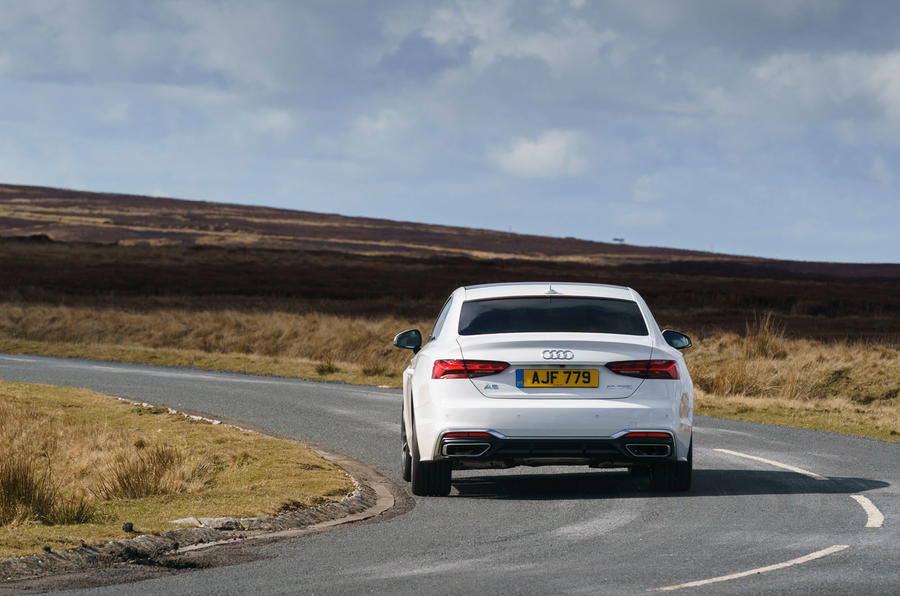 Audi A5 Coupe 2020 UK first drive review - cornering rear