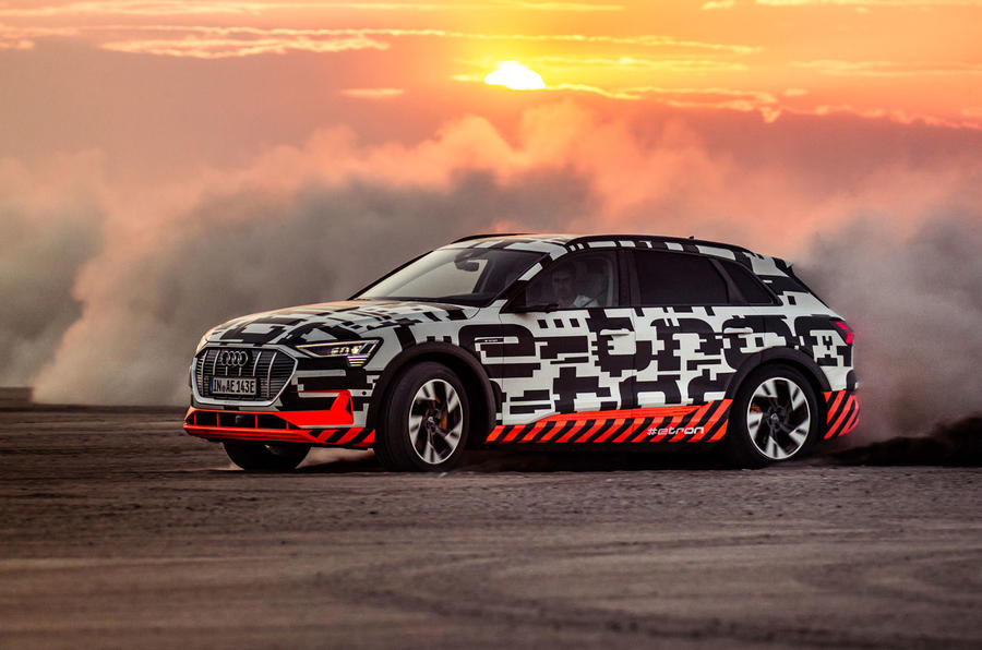 Audi e-Tron 2019 prototype first drive review - opposite lock