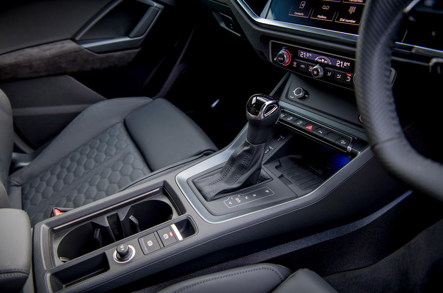 Audi RS Q3 Sportback 2019 UK first drive review - centre console