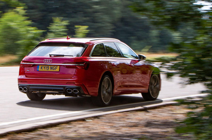 Audi S6 Avant TDI 2019 UK first drive review - cornering rear