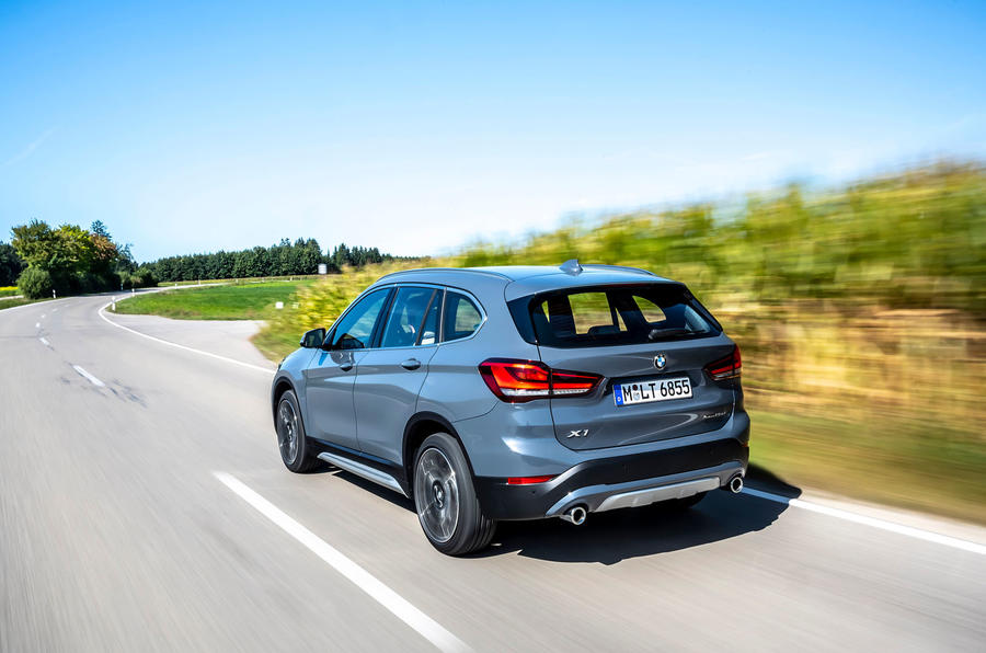 BMW X1 25d 2019 first drive review - on the road rear
