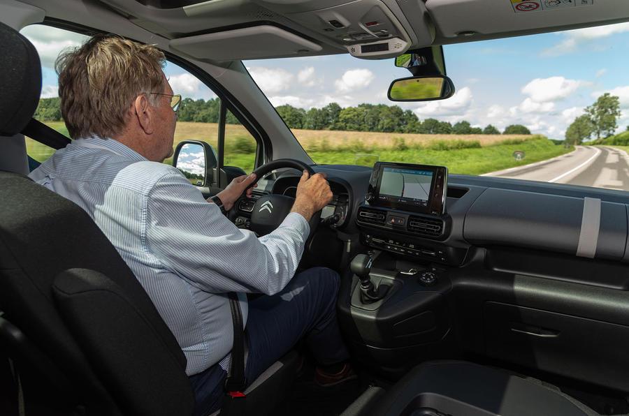 Citroen Berlingo 2018 first drive review Steve Cropley driving