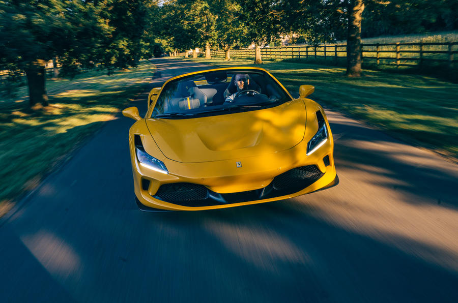 Ferrari F8 Tributo Spider 2020 UK first drive review - on the road nose