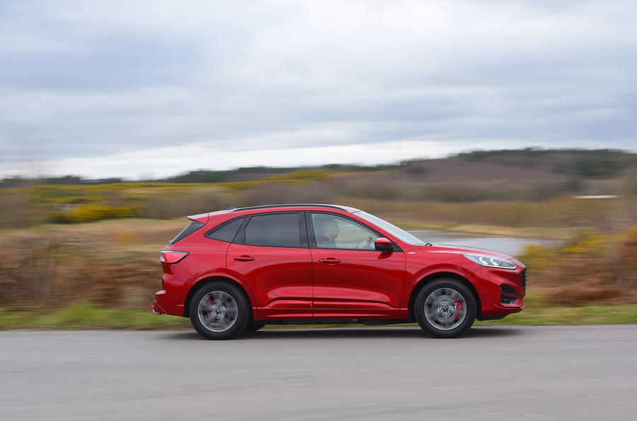 Ford Kuga ST-Line PHEV 2020 UK first drive review - on the road side