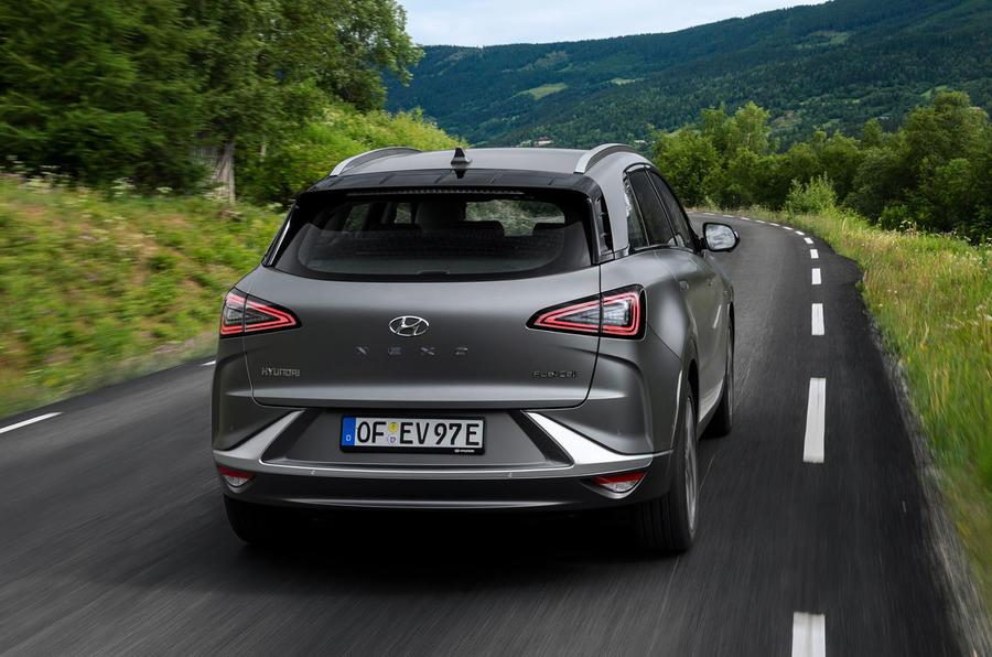 Hyundai Nexo 2019 first drive review cornering rear