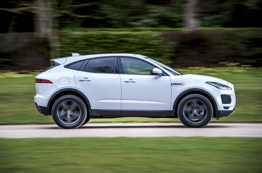 Jaguar E-Pace D150 2018 review left profile