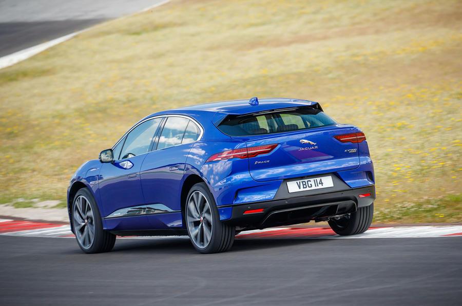 Jaguar I-Pace 2018 review track rear