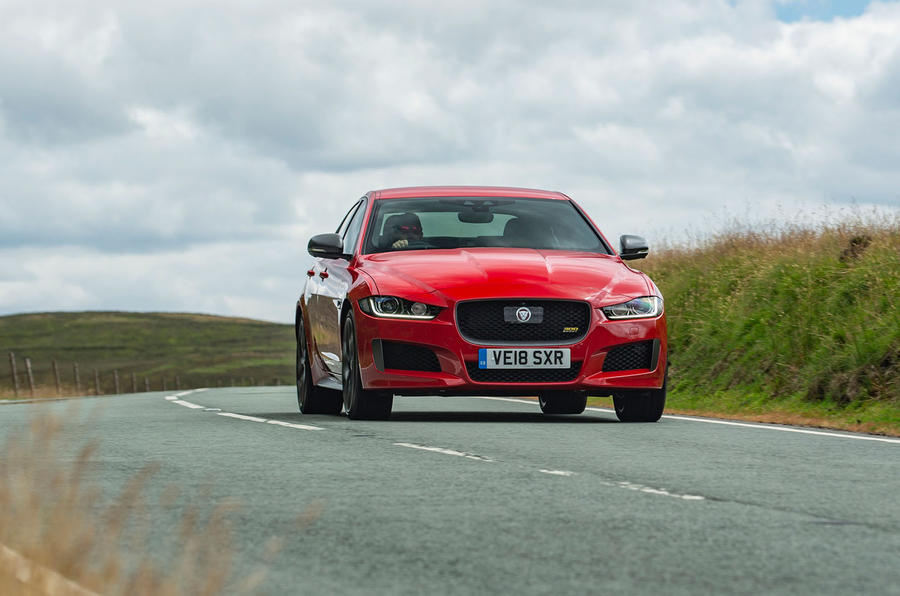 Jaguar XE 300 Sport 2018 UK first drive review on the road front