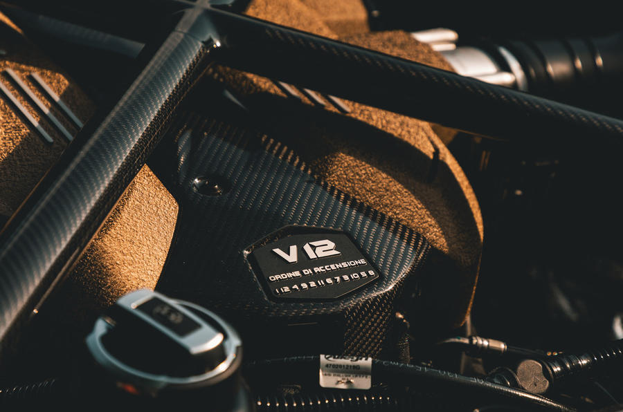 Lamborghini Aventador SVJ Roadster 2019 first drive review - engine header