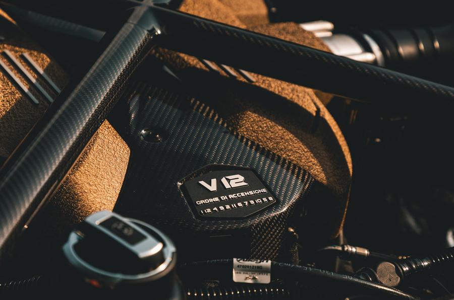 Lamborghini Aventador SVJ Roadster 2019 first drive review - engine header