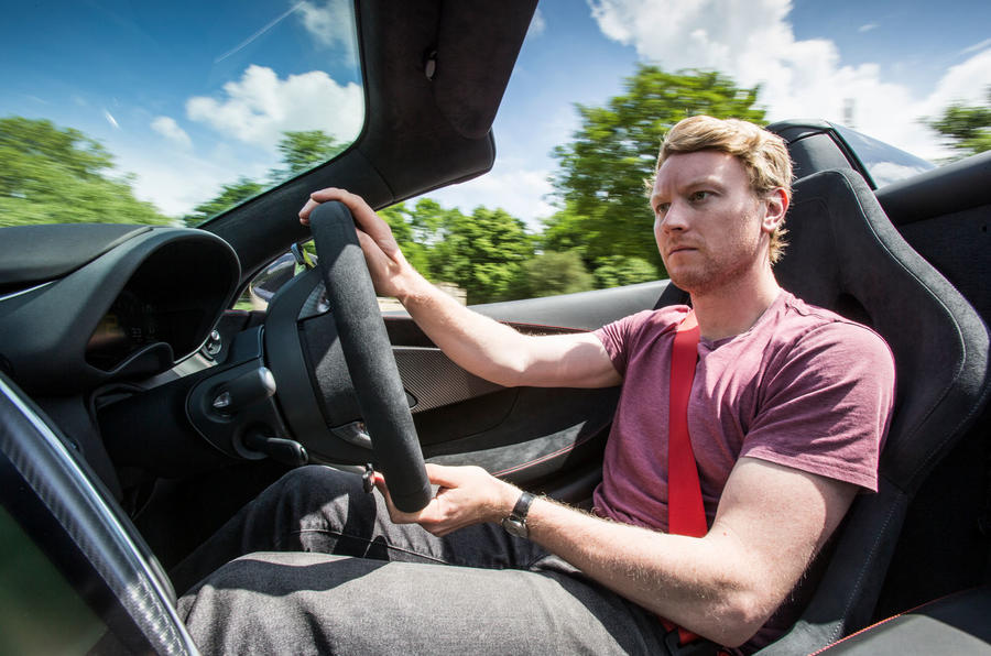 McLaren 570S Spider Track Pack 2018 UK review Ricky driving