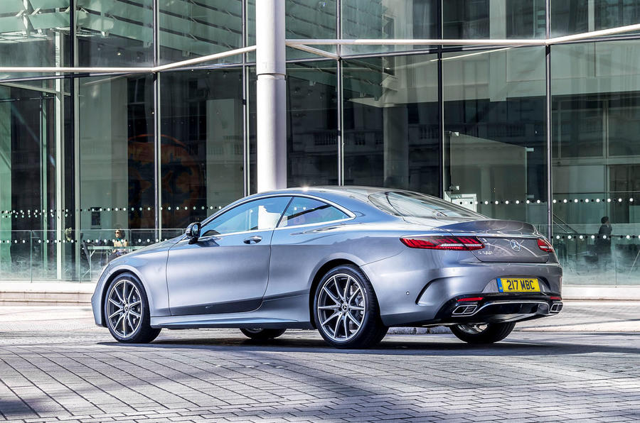 Mercedes-Benz S560 Coupe 2018 UK review static rear