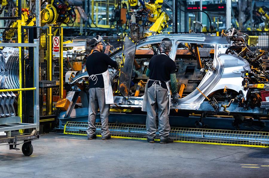 Nissan Leaf being produced