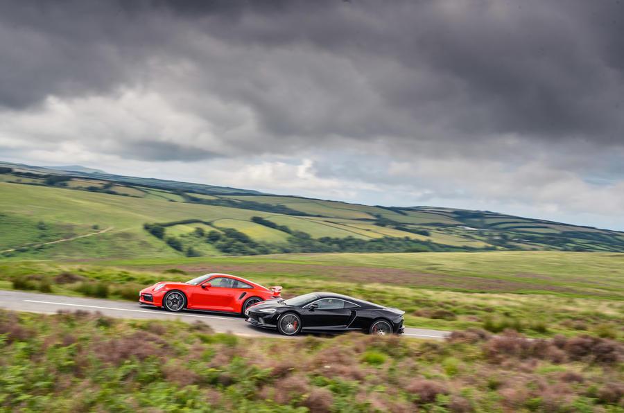 Porsche 911 and McLaren GT