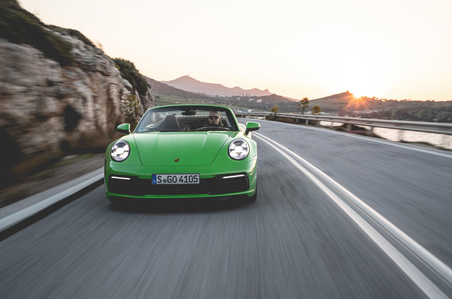 Porsche 911 Cabriolet 2019 first drive review - on the road nose