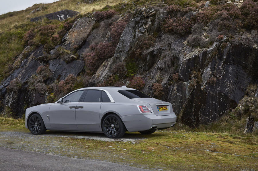 Rolls Royce Ghost 2020 UK first drive review - static rear