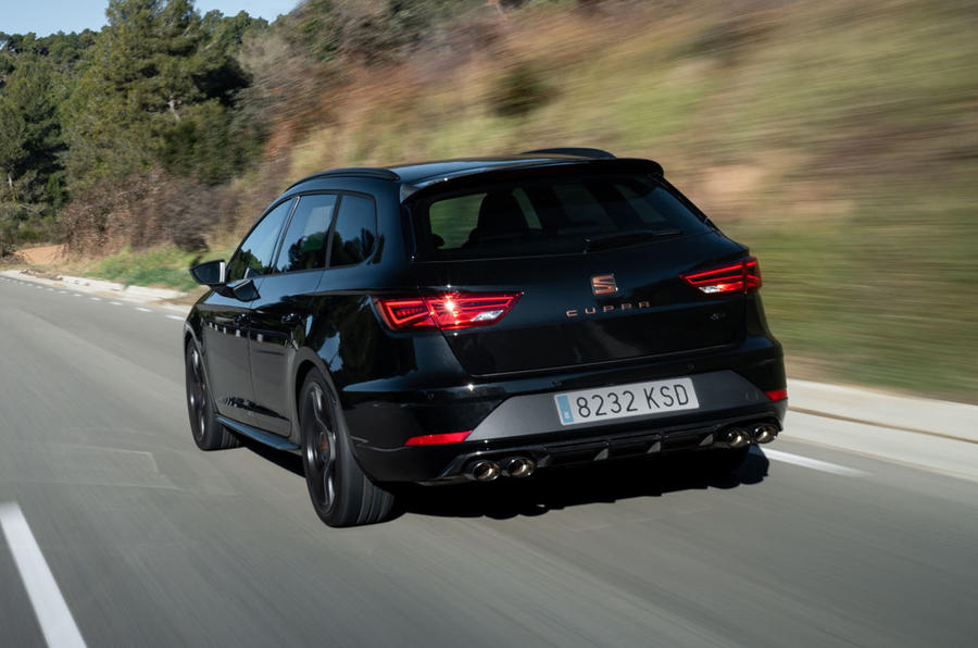 Seat Leon Cupra R ST 2019 first drive review - on the road rear